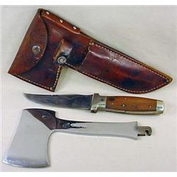 RARE EARLY CASE XX KNIFE AND HATCHET SET W/ ORIG.