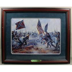 "FRAMED CIVIL WAR ART PRINT ""THE ANGLE"" BY MORT KUN"