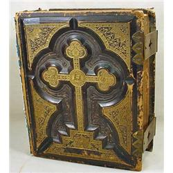 C. 1870'S LARGE SIZE HOLY BIBLE - Has 'Family Reco