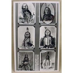VINTAGE RPPC REAL PHOTO POSTCARD OF INDIANS PARTIC