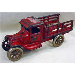 ANTIQUE ARCADE CAST IRON TRUCK TOY - Orig. Decal S