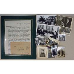 LOT OF WW2 GERMAN NAZI PHOTOS AND A LETTER DATED 1