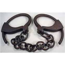 C. 1879 LEG IRONS / SHACKLES - NO KEY - Last Pat.