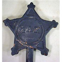 CIVIL WAR ERA G.A.R. GRAVE MARKER - Grand Army of