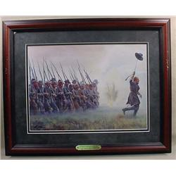 "FRAMED CIVIL WAR ART PRINT STEADY BOYS, STEADY!"" B"