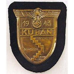 WW2 GERMAN NAZI KUBAN SHIELD - DATED 1943