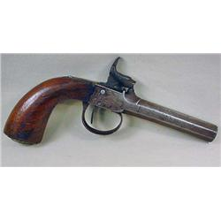 C. 1840'S BRITISH PERCUSSION BALL AND CAP GUN - Ha