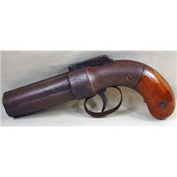 C. 1800'S PEPPER BOX HANDGUN