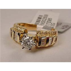 10K GOLD LADIES DIAMOND UNITY RING - Comes with AI