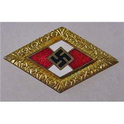 RARE GERMAN NAZI YOUTH LEADER PIN - Marked RZM and