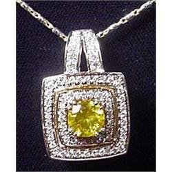 14K 2-TONE WHITE AND YELLOW GOLD LADIES DIAMOND SL