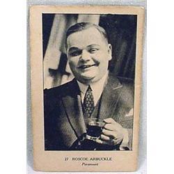 "C. 1920'S ROSCOE ""FATTY"" ARBUCKLE TRADING CARD - W"
