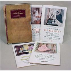 C. 1930 SINGER SEWING LIBRARY BOXED FOUR BOOK SET