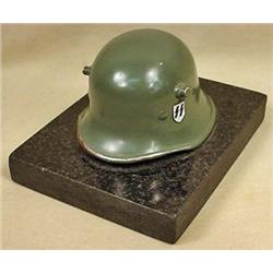 GERMAN NAZI SS HELMET DESK ORNAMENT / PAPERWEIGHT