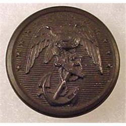 RARE CIVIL WAR ERA USMC MARINES HARD RUBBER BUTTON