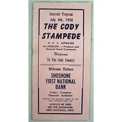 1958 CODY STAMPEDE SOUVENIR RODEO PROGRAM - WYOMIN