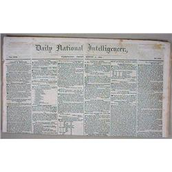 8-8-1834 DAILY NATIONAL INTELLIGENCER NEWSPAPER -