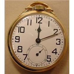 BW RAYMOND 21 JEWEL RAILROAD POCKET WATCH W/ PORCE