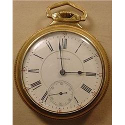 WALTHAM 21 JEWEL RAILROAD POCKET WATCH - WORKS