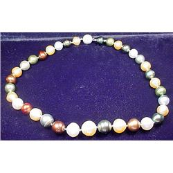 LADIES TAHITIAN SOUTH SEA PEARL NECKLACE W/ 14K WH