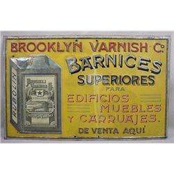 TURN OF THE CENTURY BROOKLYN VARNISH CO. METAL ADV