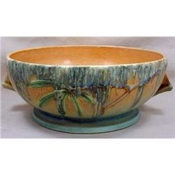 MOSS ROSEVILLE ART POTTERY BOWL -  291-7""