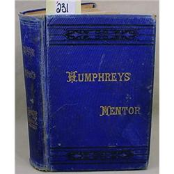 "1900 ""HUMPHREYS HOMEOPATHIC MENTOR"" HARDCOVER BOOK"