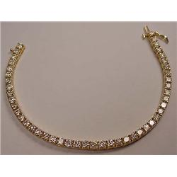 14K GOLD LADIES DIAMOND TENNIS BRACELET - Comes wi