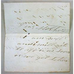 CIVIL WAR LETTER FROM SOLDIER - WILKES BARRE, PA -