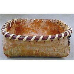 NATIVE AMERICAN INDIAN BARK BASKET - Approx. 4.75""