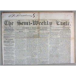 12-13-1849 SEMI-WEEKLY EAGLE NEWSPAPER - Incl. Kos