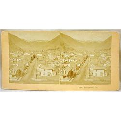 C. 1880'S PHOTO STEREOVIEW CARD OF OVERVIEW OF GEO