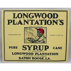 VINTAGE BLACK AMERICANA LONGWOOD PLANTATION SYRUP