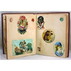 VICTORIAN SCRAP PAPER ALBUM - INCL. BLACK AMERICAN