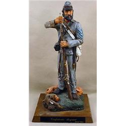 LTD. ED. CONFEDERATE SERGEANT CIVIL WAR STATUE - S
