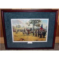"LARGE FRAMED LTD. ED. CIVIL WAR ART PRINT ""DON'T Y"