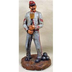CONFEDERATE CANNONEER CIVIL WAR STATUE - SIGNED -