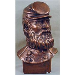 BUST OF STONEWALL JACKSON - SIGNED - Unsure of Mat