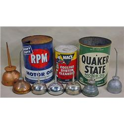 LOT OF VINTAGE GAS AND OIL RELATED ITEMS - INCL. A