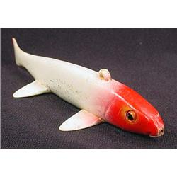"VINTAGE WOODEN FISH DECOY / LURE - Approx. 6"" long"