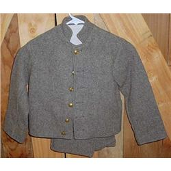 HANDMADE CHILD'S NCIVIL WAR REENACTMENT SUIT - CON