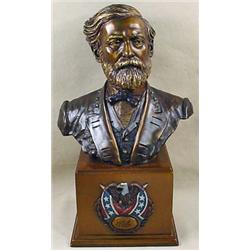 BRONZE BUST OF GEN. ROBERT E. LEE BY JIM PONTER -