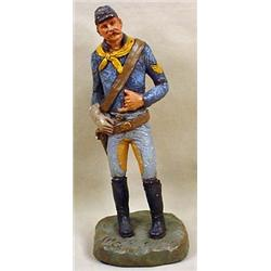 CIVIL WAR SOLDIER STATUE - SIGNED - Signed Michael