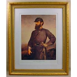 FRAMED STONEWALL JACKSON CIVIL WAR ART PRINT BY JO