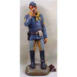CIVIL WAR SOLDIER STATUE - SIGNED - Signed by Mich