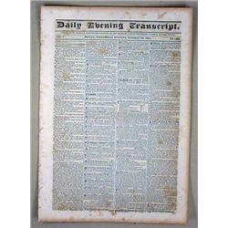 10-29-1834 DAILY EVENING TRANSCRIPT NEWSPAPER - In