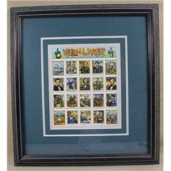 FRAMED DISPLAY OF CIVIL WAR COMMEMORATIVE STAMPS -