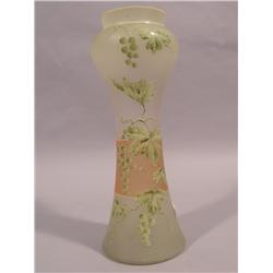 A Victorian Enamelled Glass Vase,