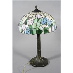 A Reproduction of a Stained Glass Table Lamp.