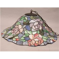 A Hanging Stained Glass Light,